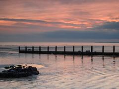 Bognor NovemberPB165939_32 (tony.rummery) Tags: sunset england seascape beach reflections sussex unitedkingdom olympus gb southcoast groyne bognor englishchannel bognorregis breakwater mft microfourthirds epm1