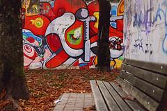 The Wall (Village9991) Tags: park wall graffiti bergamo