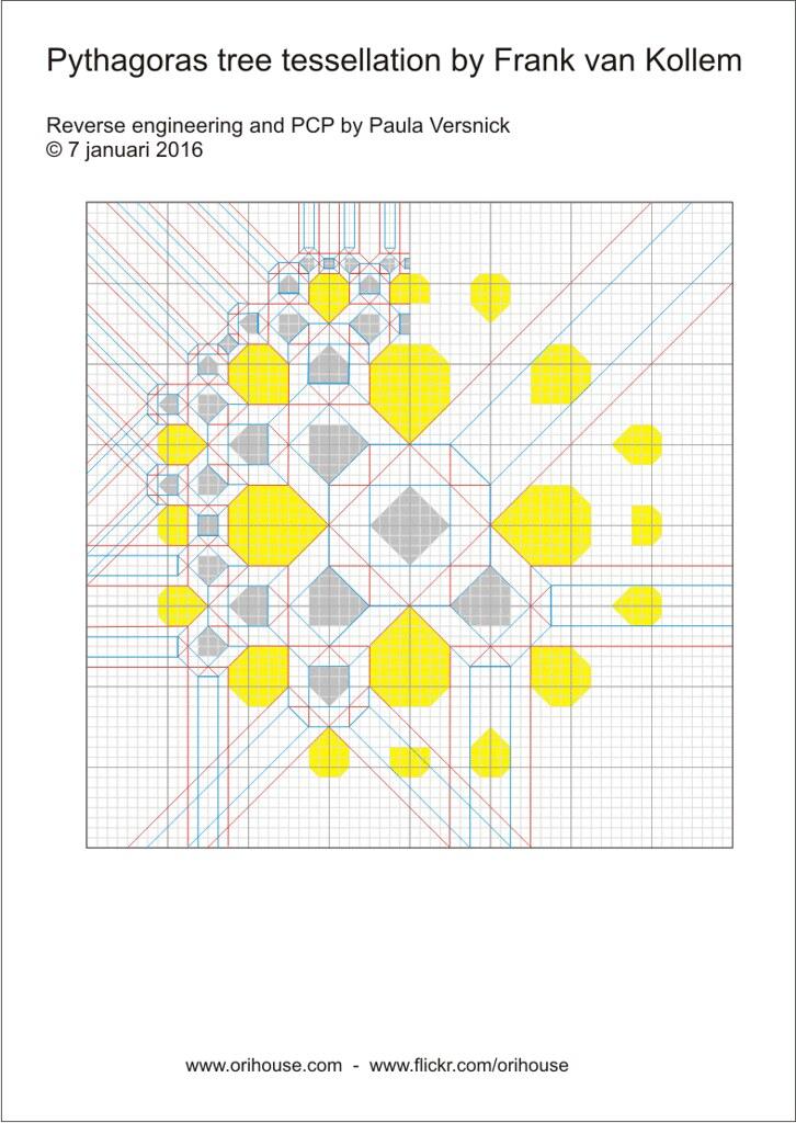 Pythagoras Tree PCP Orihouse Tags Origami Tessellation Diagrams Frankvankollem Paulaversnick Pythagorastree