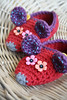 Crochet mouse slippers (lilleliis) Tags: red kids children mouse colorful handmade crochet footwear slippers