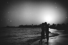 Sunrise (Nikita Trutenin) Tags: sea portrait blackandwhite bw sun love sunrise pair redsea egypt  hightcontrast