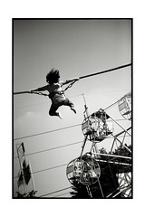flying (fly) Tags: street girl thailand flying bangkok simonkolton
