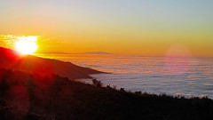 Sea of clouds at sunset (gjaviergutierrezb) Tags: sunset clouds tenerife canaryislands seaofclouds