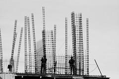 lines (Juan Barra Photography) Tags: people blackandwhite bw blancoynegro person persona construction arquitectura pattern gente patterns bn construccin rebar hiron fierro archquitecture