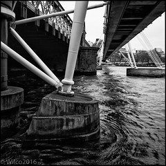 Bridge Piers (Wilco1954) Tags: bridge london thames pier places pylons charingcross
