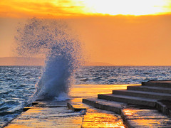 Jugo (bilusickr) Tags: sunset sea sun storm waves wind croatia sunsets wave windy split jogo hrvatska jugo dalmatia dalmacija cloudsstormssunsetssunrises