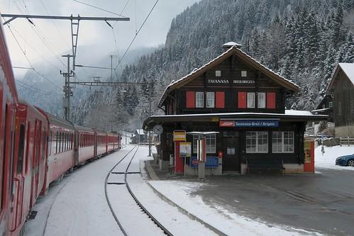 RhB Station Tavanasa-Breil / Brigels