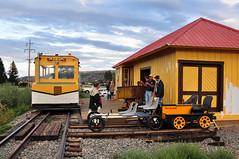 Denver & Rio Grande - Motor Car (Jim Strain) Tags: jmstrain station railroad railway denverriogrande southforkcolorado