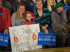 Bernie Sanders (John M Poltrack) Tags: sign rally nh politicians bern primary berniesanders feelthebern