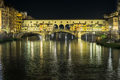 Ponte Vecchio- Firenze (aliffc3) Tags: lighting italy architecture reflections europe sony tuscany historical firenze hdr pontevecchio arnoriver lowlightphotography a6000 rokinon85f14
