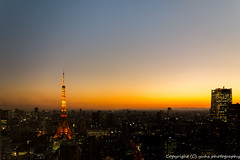 the beauty of a flaming sunset (Mi-GuruGuru) Tags: sunset japan tokyo sony tokyotower rx100
