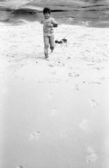 Beach-32 (Road Show) Tags: ocean bw sun beach kids sand nikon rocks surf waves kodak tmax 100 50mmf14 fm2n lajollacoves