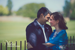 Big smiles! Rupesh and Virgina's Engagement photo shoot in Oxford by Veiled Productions - wedding photography and videography Cambridgeshire