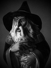 "Tolkien Gandalf Portrait -""You shall not pass"" (fstop186) Tags: china light portrait blackandwhite white black macro film contrast dark moody shadows thoughtful dramatic 11 figure gandalf pensive brooding grainy 1979 tolkien ratio fullsize royaldoulton youshallnotpass shallnotpass tolkienenterprises"