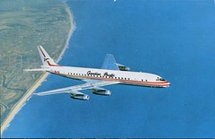 DC-8 Jet Empress, Canadian Pacific Air Lines (SwellMap) Tags: architecture plane vintage advertising design pc airport 60s fifties aviation postcard jet suburbia style kitsch retro nostalgia chrome americana 50s roadside googie populuxe sixties babyboomer consumer coldwar midcentury spaceage jetset jetage atomicage