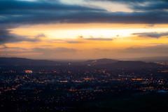 Sunset Haze - Cleeve Hill, Gloucestershire. (Jeremiah Huxley Productions) Tags: england gloucestershire cheltenham cleevehill