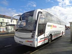 FJ60EGC Stotts Coach Travel at Blackpool on National Express service 351 to Leeds (j.a.sanderson) Tags: coach leeds national express blackpool caetano coaches scania huddersfield 351 levante stotts b9r milnbridge fj60egc