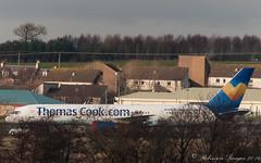 Boeing 757-200 Thomas Cook (.Robinson Images) Tags: uk airplane scotland flying transport aeroplane boeing publictransport 757 ayrshire 757200 prestwickairport thomascookcom thomacook