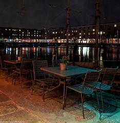 Albert Dock at night (7 of 19) (andyyoung37) Tags: uk longexposure england water night liverpool reflections boats cityscape unitedkingdom gb albertdock tablesandchairs merseyside