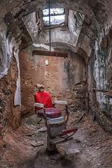 Jo Ann Bolton 1-3 (JoJoClick) Tags: philadelphia window chair cell prison dilapidated easternstatepenitentiary dentistchair