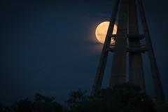 Moon and bells (pakerholm) Tags: moon tower church clouds bells sweden churchtower belltower fullmoon sverige kyrka mne srmland moln fullmne sdermanland oxelsund klockor klocktorn kyrktorn