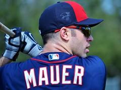 Joe Mauer -- Minnesota Twins Star (forestforthetress) Tags: people man color sports hat nikon baseball outdoor batting mauer joemauer minnesotatwins omot
