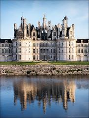 Chambord variations - reflet (Paucal) Tags: france castle de la unesco chambord loire blois chteaux hassy 503cw cfe80 cfv39