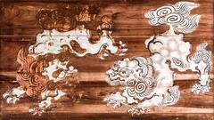 Frolicking Lions (campra) Tags: wood art japan painting dragon miyajima itsukushima 千畳閣 senjokaku hokukojinja