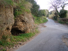 (Psinthos.Net) Tags: road sky nature march countryside spring afternoon path stones soil treetrunk valley greens cave mountainside treebranches shrubs planetree  sorrels    fasuli psinthos            fasouli       psinthosvalley fasoulipsinthos  fasoulivalley