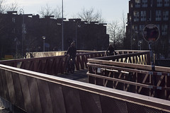 Zigzag path (Arne Kuilman) Tags: mamiya netherlands amsterdam lens cycling path walk pad nederland adapter handheld manualfocus zigzag fietsen ponton fietspad baarsjes fietsers amsterdamwest 110mm mft mamiyasekor110mm