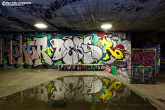 Graffiti London South Bank (Nigel Blake, 14 MILLION...Yay! Many thanks!) Tags: city uk london night canon eos graffiti cityscape skateboarding south bank nighttime area 5dmkiii 5dmk3 nigelblake nigelblakephotography