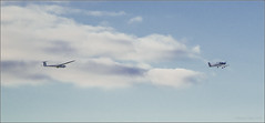 under tow (mikeyp2000) Tags: sky clouds plane aviation rope connected tug glider airborne tow towing airborn undertow