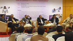 Sufi Faruq Ibne Abubakar discussing on Issues & Challenges in IT Solution Implementation @BICC, Dhaka