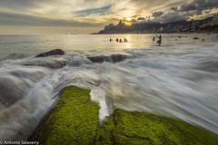 Arpoador I (Antonio Salaverry) Tags: longexposure sunset pordosol brazil praia beach rio brasil riodejaneiro landscape nikon rj paisagem ipanema arpoador