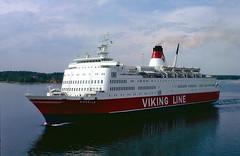 Rosella leaving Mariehamn land (Franz Airiman) Tags: travel cruise summer ferry finland boat 1982 europe ship balticsea baltic viking rosella mariehamn northerneurope land vikingline