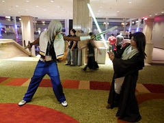 Keyblade vs. Lightsaber (Wrath of Con Pics) Tags: starwars cosplay riku kingdomhearts animeweekendatlanta outboundflight awa2015 loranajinzler