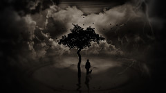 To Belong in this World (Skin Soul) Tags: world moon tree art love illustration cat photo secret surreal fantasy conceptualart biophilia skinsoul creativeartphotography tobelong sofiacameiraafonso