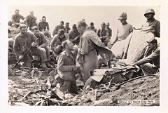 Iwo Jima, Chaplain, Communion,  WWII, Soldiers (photolibrarian) Tags: wwii soldiers communion iwojima chaplain frcharlesfsuversj thejesuitofiwojima