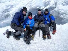 Top of Mt. Adams trying to keep out of the wind. #hikenorthidaho #ig_idaho #pnw #idahoadventures #upperleftusa #peakbagger #peakbagging #mtadams