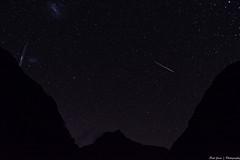 Milford Track night sky (.Paul Jones.) Tags: newzealand sky mountain silhouette night stars star astro southisland otago milford milfordtrack shootingstar astrometrydotnet:status=failed astrometrydotnet:id=nova1478998