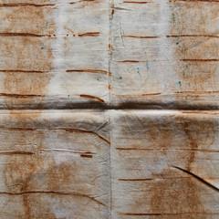 Folded (jonnydredge) Tags: rust stripes cotton eco shibori markmaking onionskins spottedhyenas