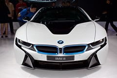 BMW i8 Hybrid at the 37th Bangkok International Motorshow at IMPACT Challenger in Muang Thong Thani, Nonthaburi, Thailand (UweBKK ( 77 on )) Tags: auto show cars thailand hall automobile asia bangkok sony automotive exhibition event international thong impact bmw electro motor southeast 37 alpha dslr hybrid thani 77 challenger slt motorshow 37th i8 muang nonthaburi