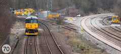Out on test. Class 73/9 No 73970 at Clay Cross en-route to Derby on 22-03-2016 (kevaruka) Tags: uk greatbritain england colour composition train canon march flickr colours unitedkingdom derbyshire trains telephoto 5d locomotive frontpage freight freighttrain 2016 freightliner class66 class73 claycross gbrf canon5dmk3 5dmk3 5d3 kevinfrost 5diii canon70200f28ismk2 canoneos5dmk3 ilobsterit telephototrains