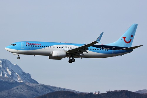 G-FDZU Boeing 737-800 Salzburg 20th February 2016
