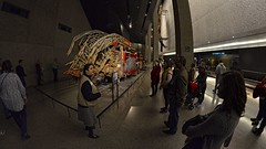 fisheye photography: nyfd fire engine at the 911 memorial museum in nyc (norlandcruz74) Tags: world museum lens nikon memorial angle 911 wide center 11 september fisheye cruz filipino wtc 8mm trade ultra pinoy bower dx norland d5100