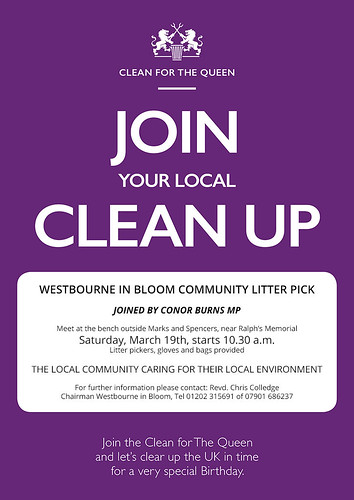 Litter Pick March 15 2016 - Clean for the Queen in Westbourne
