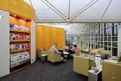 Reading corner (A. Wee) Tags: china hongkong airport united lounge  airlines  hkg hkia  unitedclub