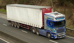 W & W Mackie of Alford Scania WW63MAC on the A90, Dundee, 21/3/16 (andyflyer) Tags: truck lorry scania a90 alford haulage hgv roadtransport wwmackie ww63mac