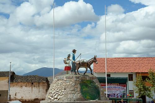 Plaza de Armas in the town of Maras in Peru-02 5-26-15
