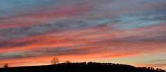 spectacular sunset tonight in Tullynacree! (conall..) Tags: blue ireland light sunset red sun colour crimson spring hill deep northernireland northern setting charlies tullynacree